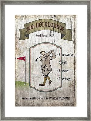 The 19th Hole Lounge Framed Print by Daniel Hagerman