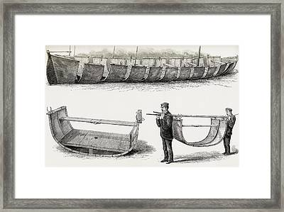 The 28-foot Steel Boat Advance Framed Print by Vintage Design Pics