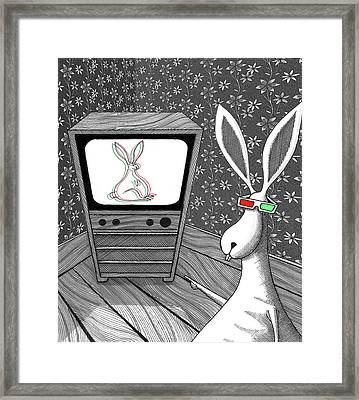 The 3d Rabbit  Framed Print by Andrew Hitchen