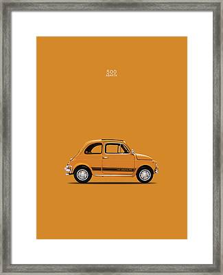 The 500 Abarth 1969 Framed Print by Mark Rogan