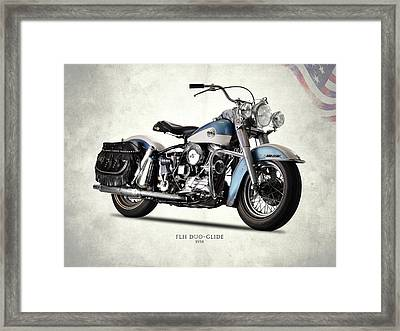 The 58 Harley Flh Framed Print by Mark Rogan