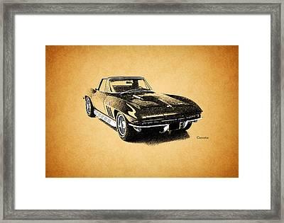 The 66 Vette Framed Print by Mark Rogan