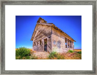 The Abandoned School House Framed Print by Spencer McDonald