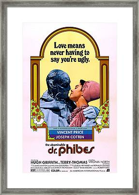 The Abominable Dr. Phibes, From Left Framed Print by Everett
