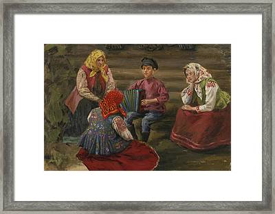 The Accordion Player Framed Print by Celestial Images