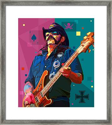 The Ace Of Spades Framed Print by Mal Bray