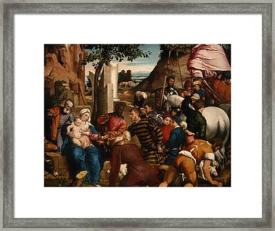 The Adoration Of Kings Framed Print by Mountain Dreams