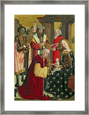 The Adoration Of The Magi Framed Print by Absolon Stumme
