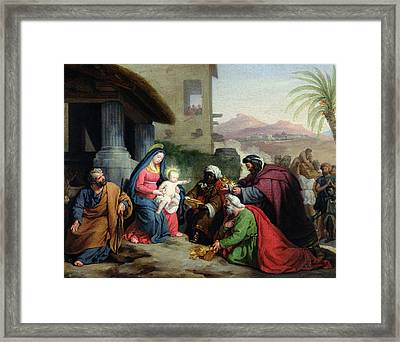The Adoration Of The Magi Framed Print by Jean Pierre Granger