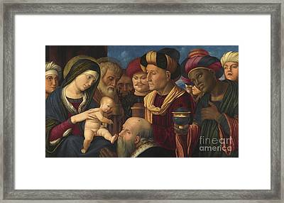 The Adoration Of The Magi Framed Print by MotionAge Designs