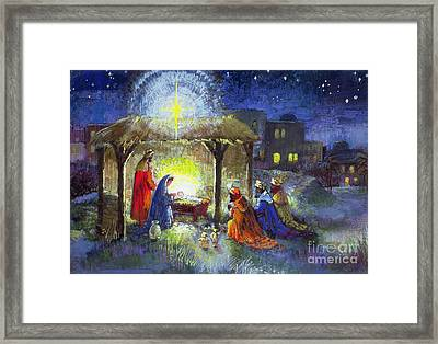 The Adoration Of The Magi  Framed Print by Stanley Cooke