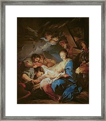 The Adoration Of The Shepherds Framed Print by Charle van Loo