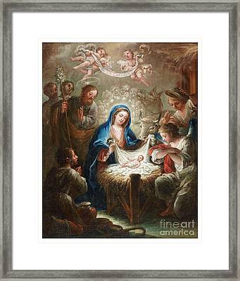 The Adoration Of The Shepherds The Annunciation The Betrothal Framed Print by Isidoro Tapia