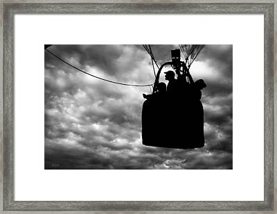 The Adventure Begins  Hot Air Balloon Framed Print by Bob Orsillo