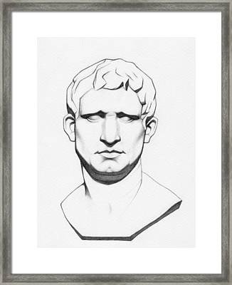 The Roman General - Marcus Vipsanius Agrippa Framed Print by Stevie The floating artist