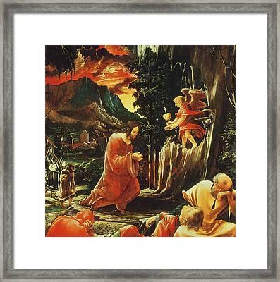 The Agony In The Garden Framed Print by Albrecht Altdorfer