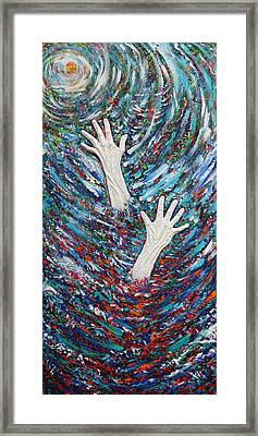The Agony Of Addiction Framed Print by Julie Turner