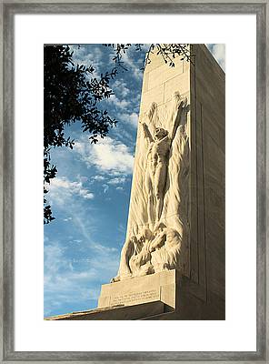 The Alamo Cenotaph Framed Print by Sarah Broadmeadow-Thomas