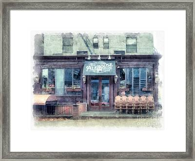The Alehouse English Cellar Providence Rhode Island Framed Print by Edward Fielding