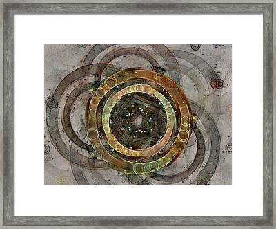 The Almagest - Homage To Ptolemy - Fractal Art Framed Print by NirvanaBlues