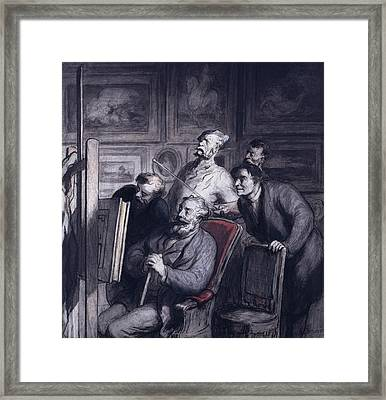 The Amateurs Framed Print by Honore Daumier