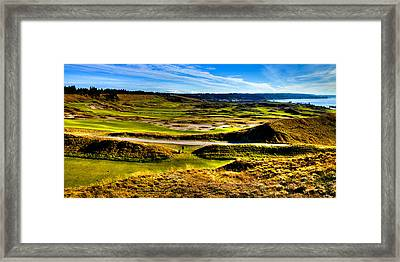 The Amazing Vista Of Chambers Bay Golf Course Framed Print by David Patterson