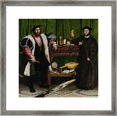 The Ambassadors Framed Print by Hans Holbein the Younger