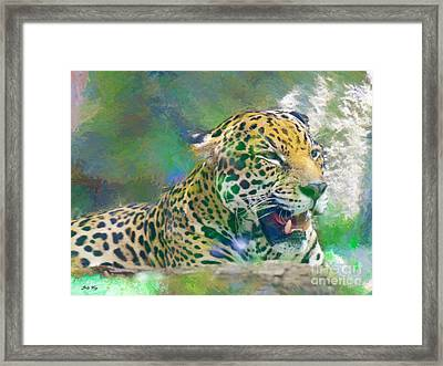 The American Jaguar Framed Print by Judy Kay