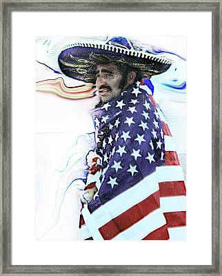 The American Framed Print by Wendy Martinez
