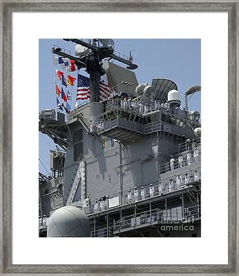 The Amphibious Assault Ship Uss Boxer Framed Print by Stocktrek Images