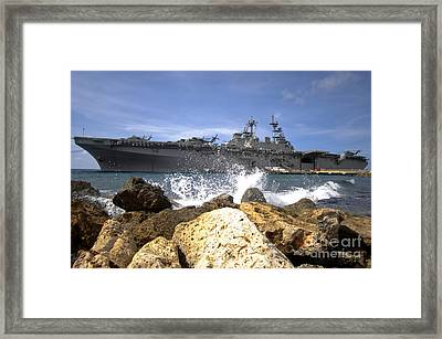 The Amphibious Assault Ship Uss Framed Print by Stocktrek Images