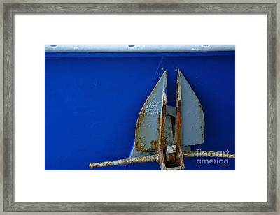 The Anchor Framed Print by Jeff Breiman