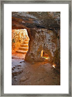 The Ancient Stone Stair. Framed Print by Andy Za