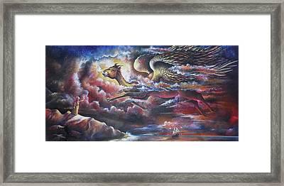 The Angel Of Arabian Desert - The Camel Framed Print by Arun Sivaprasad