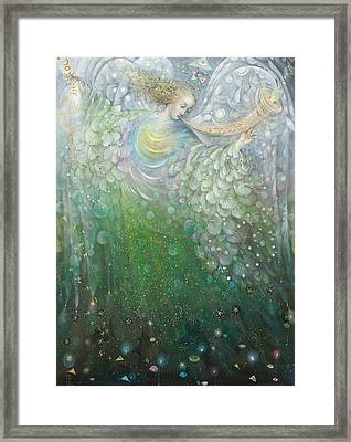 The Angel Of Growth Framed Print by Annael Anelia Pavlova
