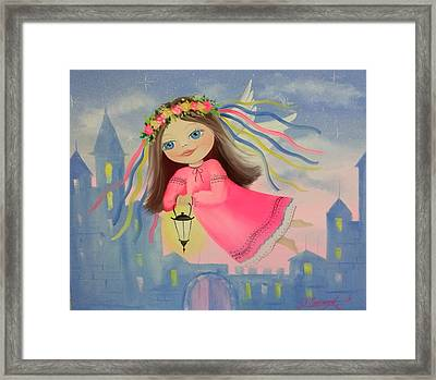 The Angel Of Light Framed Print by Olha Darchuk