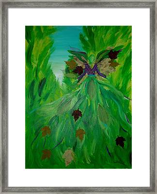 The Angel Of Spring Framed Print by Milagros Phillips