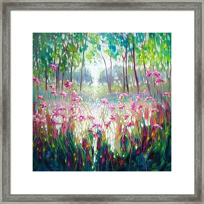 The Angel Of Spring Rises Framed Print by Gill Bustamante