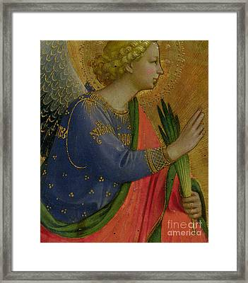 The Angel Of The Annunciation Framed Print by Fra Angelico