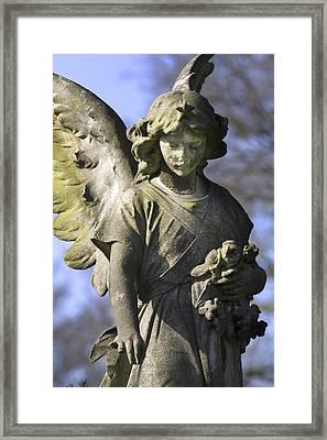 The Angel's Blessing Framed Print by Marc Huebner