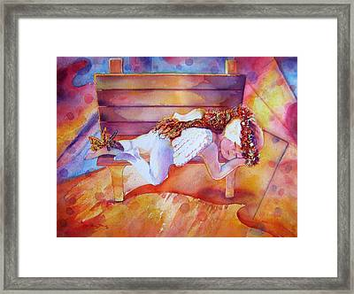 The Angel's Nap Framed Print by Estela Robles