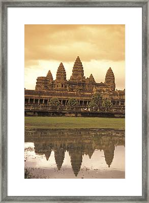 The Angkor Wat Temples In Siem Reap Framed Print by Richard Nowitz