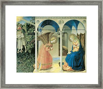 The Annunciation Framed Print by Fra Angelico  Guido Di Pietro