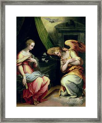 The Annunciation Framed Print by Giorgio Vasari