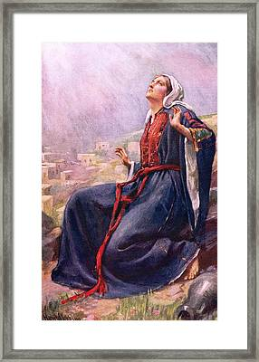 The Annunciation Framed Print by Harold Copping