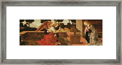 The Annunciation Framed Print by Lorenzo di Credi