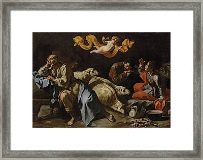 The Annunciation To The Shepherds Framed Print by Master of the Annunciation to the Shepherds