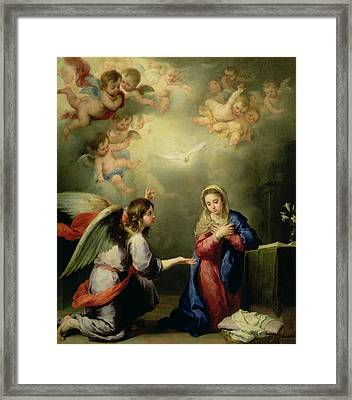 The Annunciation Framed Print by Bartolome Esteban Murillo