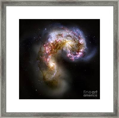 The Antennae Galaxies - Ngc 4038-4039 Framed Print by Nicholas Burningham