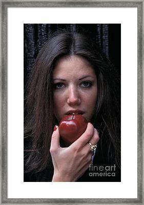 The Apple Framed Print by Marc Bittan